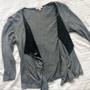 UO Gray Sequin Sweater